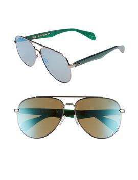 62mm Oversize Aviator Sunglasses by Rag & Bone