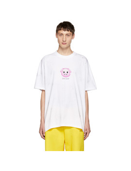 White Lucky Pig T Shirt by Vetements