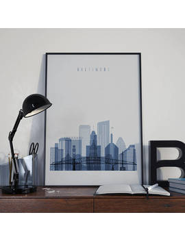 Baltimore Art Baltimore Watercolor Baltimore Skyline Baltimore Wall Art Baltimore Poster Baltimore Multicolor Baltimore Print Maryland Art by Etsy