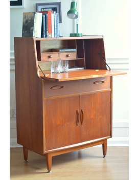 Vintage 'jentique' Danish Style Teak Bureau / Cabinet. Delivery. Modern / Mid Century. by Etsy