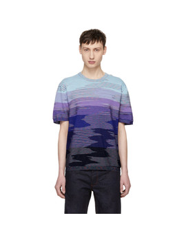 Blue 3 D Effect T Shirt by Missoni