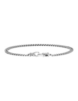 Gunmetal Curb Chain Bracelet by Tom Wood