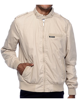 Members Only Iconic Racer Khaki Jacket by Members Only
