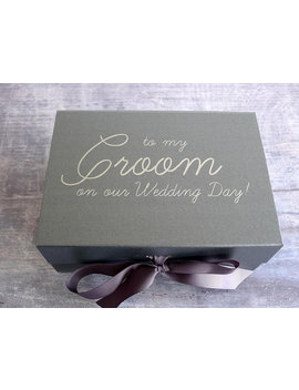 Groom Gift Box   Personalised Gift Box   Wedding Keepsake Box   Husband To Be Gift Box   Metallic Pewter Gift Box   Luxury A5 Gift Box by Etsy