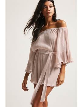 Accordion Pleated Satin Romper by Forever 21