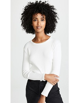 Long Sleeve Rib Tee by Amo