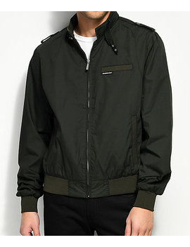 Members Only Iconic Racer Green Jacket by Members Only