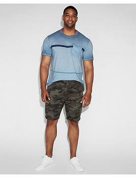 9 Inch Camo Slim Fit Stretch Shorts by Express