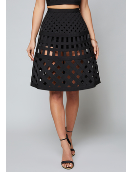 Alexandra Cage Skirt by Bebe
