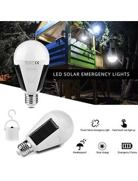 Rechargeable Led Solar Power Bulb 7w E27 Emergency Tent Camping Fishing Light by Unbranded
