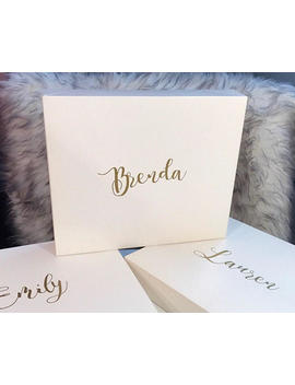 Personalized White Gift Box, Christmas Box, by Etsy