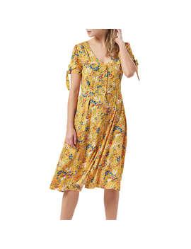 Sugarhill Brighton Holly Floral Tea Dress, Yellow Multi by Sugarhill Brighton