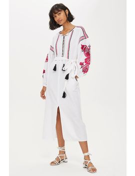 Pink Embroidery Tunic by Topshop