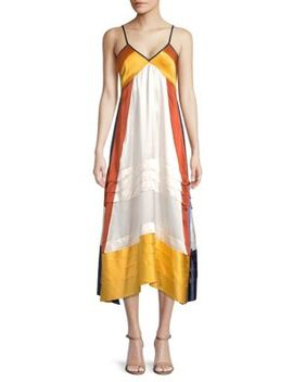 Sasha Tiered Silk Midi Dress by Tory Burch
