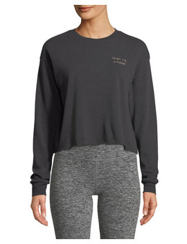 Trust Stitch Crewneck Crop Sweatshirt by Spiritual Gangster