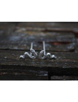Silver Stud Earrings, Mini Snake Sterling Silver Stud Earrings , Stud Earrings, Earrings, Minimalist Earrings,Cartilage Earrings, Gift by Etsy