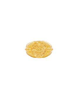 The Evil Eye Coin Signet Pinky Ring by Luv Aj