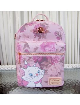 Disney Loungefly Marie The Aristocats Mini Backpack Pink Floral Bag Nwt by Loungefly