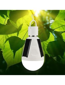 Portable 7 W E27 Solar Powered Led Bulb Light Intelligent Rechargeable Lamp by Unbranded