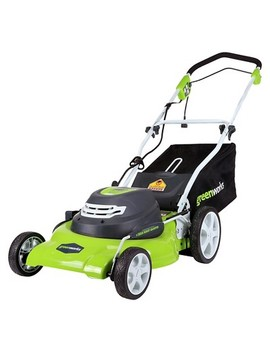 """Green Works Corded 12 Amp 20"""" Lawn Mower Exotic Green by Green Works"""