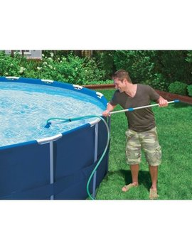 Intex Cleaning Maintenance Swimming Pool Kit W/ Vacuum Skimmer & Pole | 28002 E by Intex