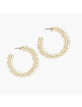 Beaded Hoops by J.Crew