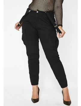 Be The Bizness Suspender Cargo Pants by Poster Grl