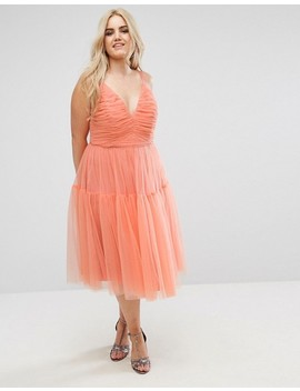 Asos Curve Tulle Midi Prom Dress by Asos Curve