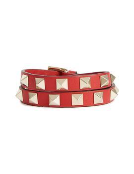 Garavani Leather Double Bracelet by Valentino