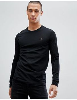 Farah Southall Super Slim Muscle Fit Long Sleeve T Shirt Black by Farah