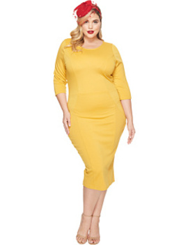 Plus Size Three Quarter Sleeve Mod Dress by Unique Vintage
