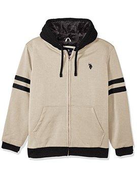 U.S. Polo Assn. Mens Standard Fashion Sherpa Lined Fleece Hoodie by U.S. Polo Assn.