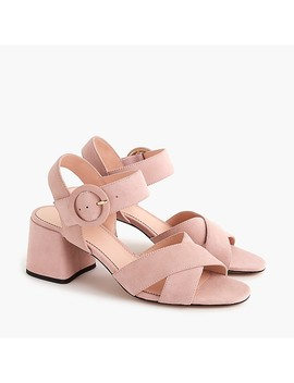 Suede Penny Sandals by J.Crew