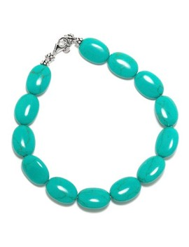 "Sterling Silver Bracelet   Turquoise/Silver (8"") by Target"