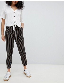 New Look Stripe Tapered Pants by New Look
