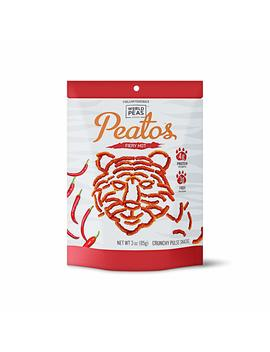 World Peas Peatos Fiery Hot, 4 Count, Pea And Lentil Based Protein And Fiber, Crunchy Snack Food, Non Gmo No Added Msg, Gluten Free by World Peas Peatos