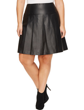 Plus Size Fit And Flare Pleat Skirt by Michael Michael Kors