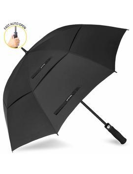 Zomake Automatic Open Golf Umbrella 62/68 Inch   Large Rain Umbrella Oversize Windproof Umbrella Double Canopy For Men by Zomake