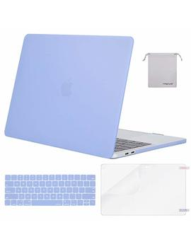 Mosiso Mac Book Pro 13 Case 2018 2017 2016 Release A1989/A1706/A1708, Plastic Hard Shell With Keyboard Cover With Screen Protector With Storage Bag Compatible Newest Mac Pro 13 Inch, Serenity Blue by Mosiso