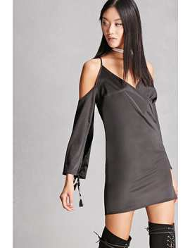 Line And Dot Satin Mini Dress by Forever 21