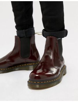 Dr Martens Vegan 2976 Chelsea Boots In Red by Dr Martens