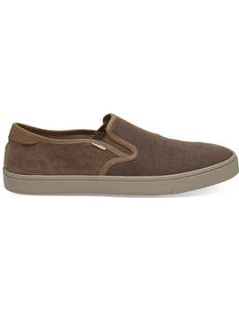 Bark Heritage Canvas Micro Corduroy Men's Baja Slip Ons by Toms
