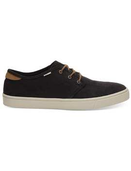 Black Micro Corduroy Men's Carlo Sneakers by Toms