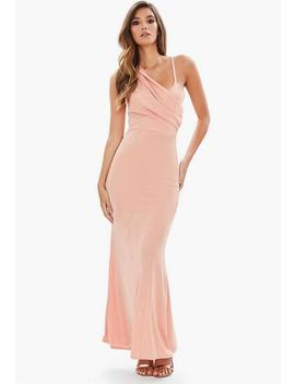 Pink Front Body Con Dress Dusky by Missguided