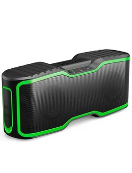 Aomais Sport Ii Portable Wireless Bluetooth Speakers 4.0 With Waterproof Ipx7,20 W Bass Sound,Stereo Pairing,Durable Design For I Phone/I Pod/I Pad/Phones/Tablet/Echo Dot,Good Gift (Green) by Aomais