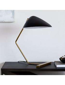 Curvilinear Mid Century Table Lamp   Black by West Elm