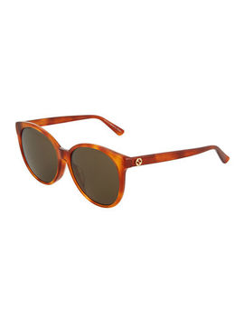 Plastic Oval Sunglasses by Gucci