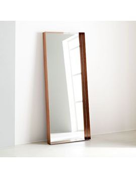 Industrial Shadowbox Floor Mirror by West Elm