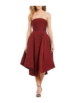 Making Waves Strapless Fit And Flare Midi Dress by Generic