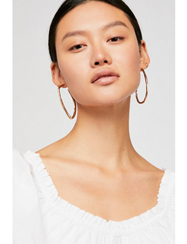 Ribbon Hoop Earrings by Free People
